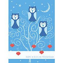 Buy CCA Personalised Hooting Christmas Charity Christmas Card Online at johnlewis.com