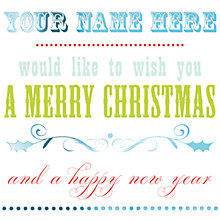 Buy CCA Personalised Christmas Calligraphy Charity Christmas Cards Online at johnlewis.com