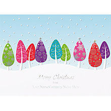 Buy CCA Personalised Colourful Trees Charity Christmas Cards Online at johnlewis.com