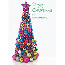 Buy CCA Personalised Tree Of Baubles Charity Christmas Cards Online at johnlewis.com