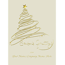 Buy CCA Personalised Swirly Tree Charity Christmas Cards Online at johnlewis.com