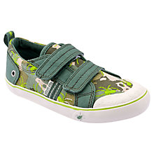 Buy Start-rite Venomous Rip-Tape Canvas Shoes, Khaki Online at johnlewis.com