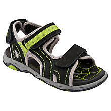 Buy Start-rite Cobweb Leather Sandals, Black/Green Online at johnlewis.com