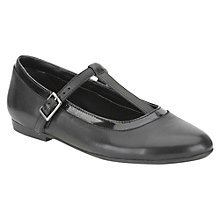 Buy Clarks Erica Petal Leather Shoes, Black Online at johnlewis.com