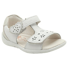 Buy Clarks SoftyLove Leather Sandals, White Online at johnlewis.com