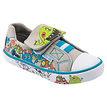 Buy Start-rite Boo!!! Canvas Shoes, Grey/Multi Online at johnlewis.com