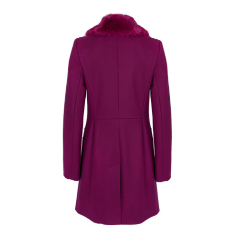 Buy French Connection Salsa Faux Fur Coat, Shaded Purple Online at johnlewis.com