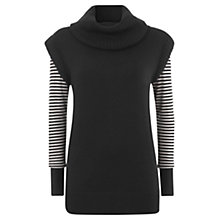 Buy Mint Velvet Striped Detail Jumper, Stripe Online at johnlewis.com
