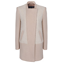 Buy French Connection Neat Weave Zip-Through Coat, Beige Mix Online at johnlewis.com