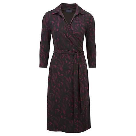 Buy Viyella Art Deco Print Dress, Black Online at johnlewis.com