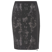 Buy Mint Velvet Jacquard Skirt, Black Online at johnlewis.com