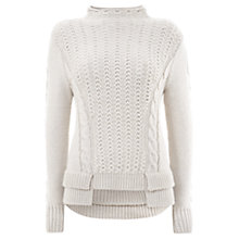 Buy Mint Velvet Peplum Jumper, Neutral Online at johnlewis.com