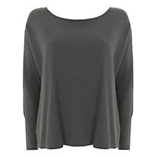 Buy Mint Velvet Button Back Knit Top, Green Online at johnlewis.com