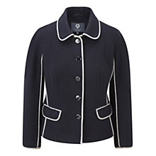 Buy Viyella Petite Boiled Wool Jacket, Blue Online at johnlewis.com