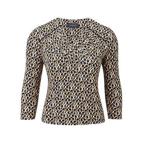 Buy Viyella Star Petal Top, Navy Online at johnlewis.com