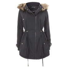 Buy Mint Velvet Faux Fur Hooded Parka, Grey Online at johnlewis.com