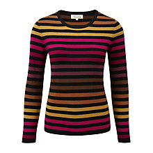 Buy Viyella Variegated Striped Jumper, Black Online at johnlewis.com