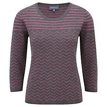 Buy Viyella Metallic Stripe Jumper, Graphite/Fuchsia Online at johnlewis.com
