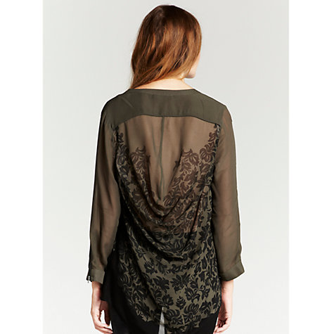Buy Mint Velvet Leila Blouse, Dark Multi Online at johnlewis.com