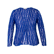 Buy Chesca Lace Crush Pleat Jacket, Regal Blue Online at johnlewis.com