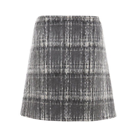 Buy Mint Velvet Check Kilt, Grey Multi Online at johnlewis.com