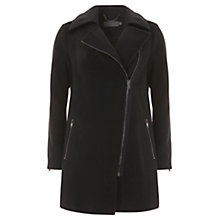 Buy Mint Velvet Asymmetric Coat, Black Online at johnlewis.com
