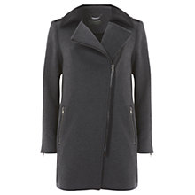 Buy Mint Velvet Asymmetric Coat, Grey Online at johnlewis.com