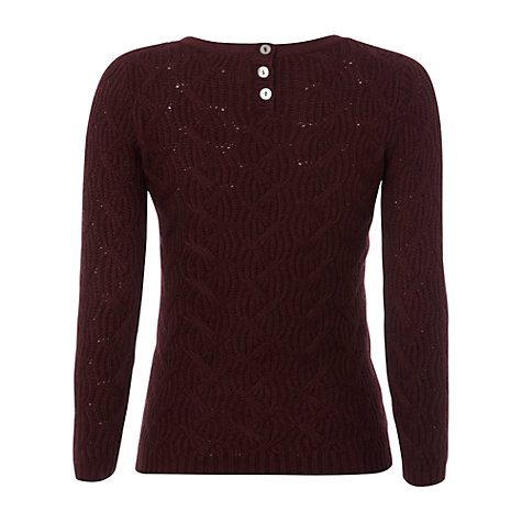 Buy White Stuff Sutton Jumper, Dark Aubergine Online at johnlewis.com