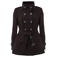 Buy Mint Velvet Moleskin Coat, Wine Online at johnlewis.com