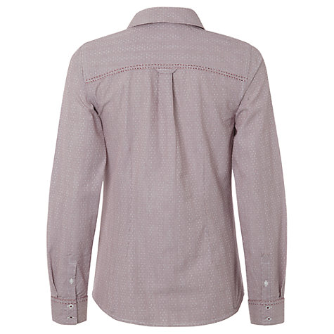 Buy White Stuff Westbourne Stripe Shirt, Light Aubergine Online at johnlewis.com