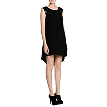 Buy Mango Sequined Flowing Dress, Black Online at johnlewis.com