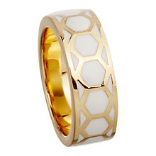 Buy Astley Clarke Colour Honeycomb 18ct Gold Vermeil Stacking Ring Online at johnlewis.com
