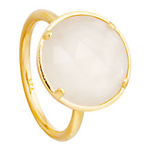 Buy Astley Clarke Colour Symphony 18ct Gold Vermeil Stacking Ring, Moonstone Online at johnlewis.com