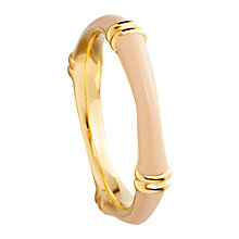 Buy Astley Clarke Colour Bamboo Enamel 18ct Gold Vermeil Stacking Ring Online at johnlewis.com