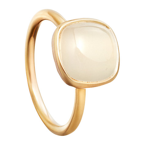 Buy Astley Clarke Colour Moonstone Timbrel 18ct Gold Vermeil Stacking Ring Online at johnlewis.com