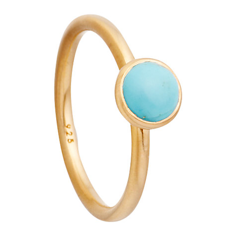 Buy Astley Clarke Colour Sonatina 18ct Gold Vermeil Stacking Ring, Turquoise Online at johnlewis.com
