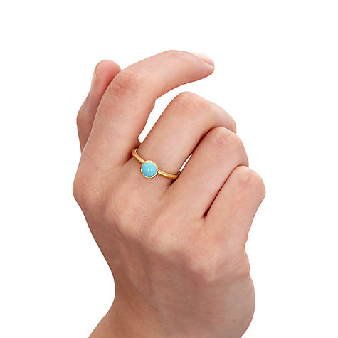 Buy Astley Clarke Colour Sonatina 18ct Gold Vermeil Stacking Ring Online at johnlewis.com