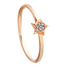 Buy Astley Clarke Muse A Little Light 14ct Rose Gold Grey Diamond Stacking Ring Online at johnlewis.com