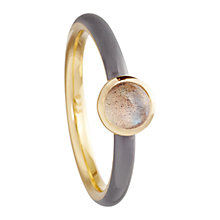 Buy Astley Clarke Colour Centime 18ct Gold Vermeil Stacking Ring Online at johnlewis.com