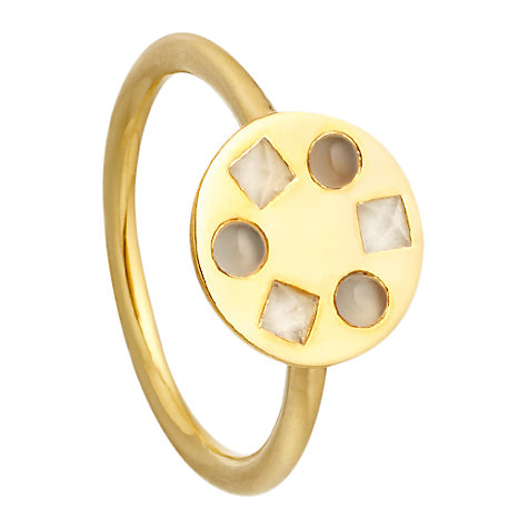 Buy Astley Clarke Colour Melody Moonstone 18ct Gold Vermeil Stacking Ring Online at johnlewis.com