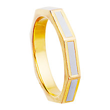 Buy Astley Clarke Colour Fractal 18ct Gold Vermeil Enamel Stacking Ring Online at johnlewis.com