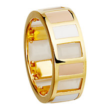 Buy Astley Clarke Colour Blush Gem Slice 18ct Gold Vermeil Stacking Ring Online at johnlewis.com