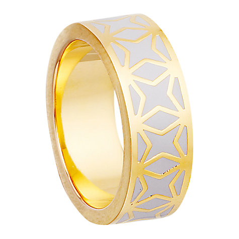 Buy Astley Clarke Colour Moonlight Mosaic 18ct Gold Vermeil Stacking Ring Online at johnlewis.com