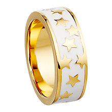 Buy Astley Clarke Colour Star Shower 18ct Gold Vermeil Stacking Ring Online at johnlewis.com