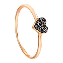 Buy Astley Clarke Muse A Little Love 14ct Rose Gold Black Diamond Stacking Ring Online at johnlewis.com