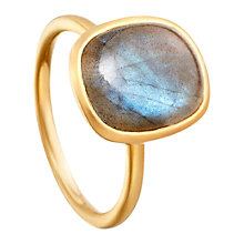 Buy Astley Clarke Tamborim Labradorite 18ct Gold Vermeil Stacking Ring Online at johnlewis.com