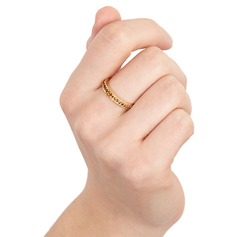 Buy Astley Clarke Colour Infinity 18ct Gold Vermeil Stacking Eternity Ring Online at johnlewis.com