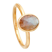Buy Astley Clarke Colour Cadenza 18ct Gold Vermeil Stacking Ring Online at johnlewis.com