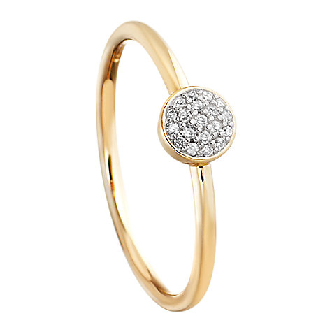 Buy Astley Clarke Muse A Little Muse 14ct Gold Vermeil Diamond Cluster Stacking Ring Online at johnlewis.com
