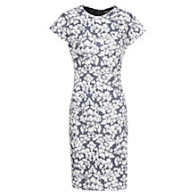 Buy Mango Floral Print Dress, Medium Grey Online at johnlewis.com